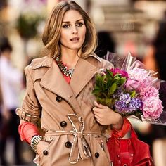 Olivia Palermo Summer rainy trench coat