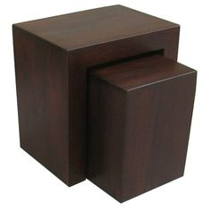 WO689 ~ Solid Dark Mango Wood Nest and Cube. SOLD OUT.