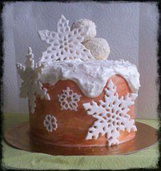 Tarta de chocolate blanco y mermelada de rosas
