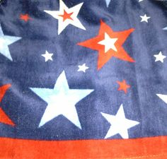 USA navy double kitchen towel with red white and by jostowelcrafts, $9.50
