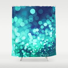 Aqua Blue Glitter Wave Shower Curtain on @society6 by @photography_art_decor. All product: https://society6.com/oxygen #fashion #clothing #online #shop #design #geometry #metalic #bright #shine #psychedelic #abstract #metalic #abstract #briht #pattern #trendy #stylish #fashionable #modern #awesome #amazing #clothes  #glitter #bokeh #dots #sparkling #girly #twist #swirl #psychedelic #light #aqua #blue #marine #water #sparkles #night