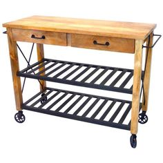 Industrial Iron Wood Kitchen Trolley Natural Black shopping, Buy Kitchen Islands & Trolleys online at MyDeal for best deals, coupons, bargains, sales