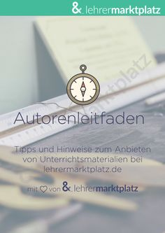 Leitfaden für Autoren bei lehrermarktplatz.de