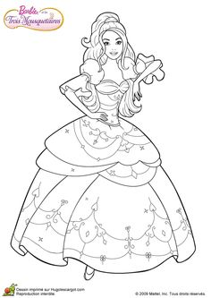 Barbie and Three Musketeers. Barbie coloring page.196