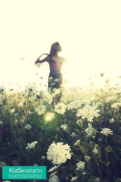 Katie Nemeth Photography, outdoor boudoir, in a field of queen annes lace. 2012 x