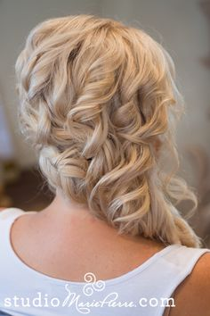 Braided off to the side updo