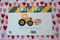 free Digger Valentine Printable from Anita Marie Design