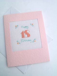 18th and 21st Birthday Cross Stitch Buds Card £3.50