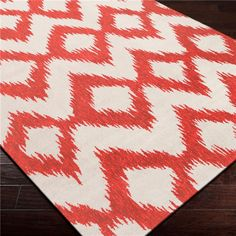 Surya Frontier Enchant Poppy Red Hand Woven Flatweave Rug on SALE now at Layla Grayce!