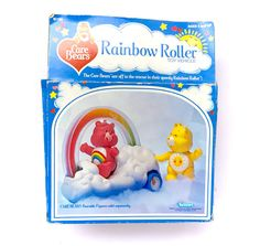 Vintage Care Bears Rainbow Roller Vehicle Care New In Box NIB
