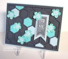 Hexagon Thinlit card Team Shoebox Swaps from Flowerbug's Inkspot