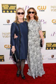 Julia Roberts and Meryl Streep at the Critics' Choice Awards.