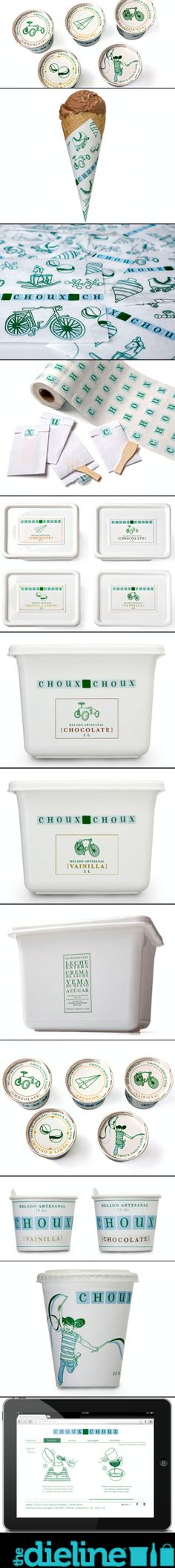 Choux Choux Gelato #identity #packaging #branding #marketing PD