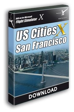 """Product information """"US Cities X - San Francisco"""" US Cities X is a series of city scenery for FSX that covers US cities crea. Aerial Images, Venice, Cities, San Francisco, Scenery, File Size, Airports, Manhattan, Cover"""