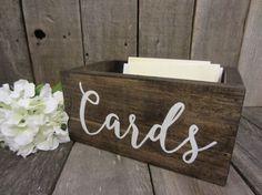 Wedding card box rustic card box Card Box wood by PerryhillRustics