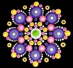 """An introductory level Easter-inspired mandala pattern. Approximate finished size is 4.5"""" x 4.5."""" Pattern Club members can apply their promo code."""