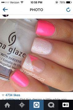 Pink nail design:)