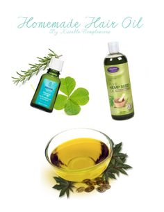 DIY Amazing Homemade Hair Oil — moisturizes + helps with split ends + reinvigorating your scalp!