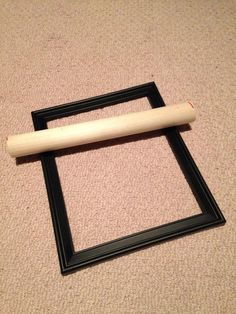 Lisa Dufala Jones: Dollar store frame and wooden dowel for rolling clay slabs. Great idea...