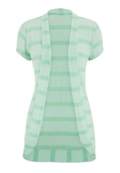 mojito striped short sleeve open front cardigan - maurices.com