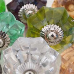Beautifully Handcrafted Different colors Melon glass Knob