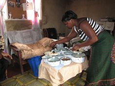 lunch feast served in the village headman's house.