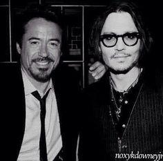 Robert Downey Jr. RDJ Johnny Depp ❤️
