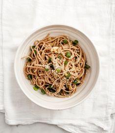 sesame & shiitake soba noodles