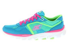 SKECHERS GO Run Ride Ultra Blue/Lime - Zappos.com Free Shipping BOTH Ways