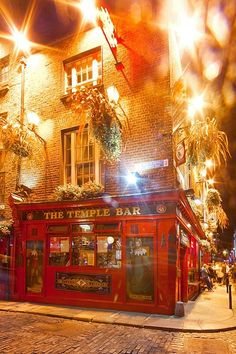 The famous Temple Bar, Dublin, Ireland. Visited this street on my two day trip to Dublin. Want to go back one day!
