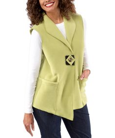 Look at this Janska Green Artisan Vest on #zulily today!