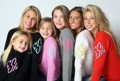 cashmere monogrammed sweaters LOVE