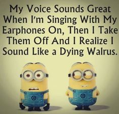 Humor Minion, Funny Minion Memes, Minions Quotes, Funny Relatable Memes, Funny Jokes, Hilarious, Funny Sayings, Despicable Me Funny, Funny Insults