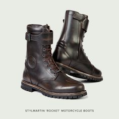 Stylmartin 'Rocket' motorcycle boots—perfect for cafe racers.
