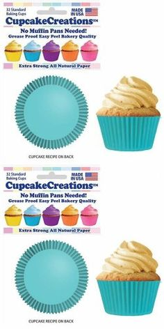 50 Liner Count Cupcake and Muffin Wrappers 50, Brown Brown Baking Cupcake Liners