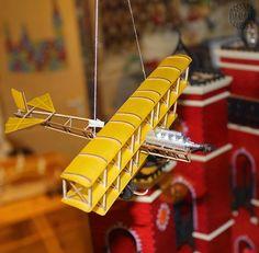 Holz-Modell-Bausatz Dreidecker