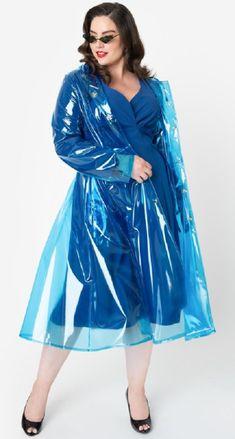 Blue Raincoat, Pvc Raincoat, Plastic Raincoat, Rain Bonnet, Rainy Dayz, Plastic Mac, Rain Wear, Older Women, Rain Coats