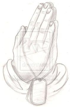 Praying Hands Tattoo by Metacharis