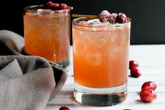 A festive cranberry, orange, ginger beer and citrus vodka cocktail for your next gathering. The Big Sister approved!