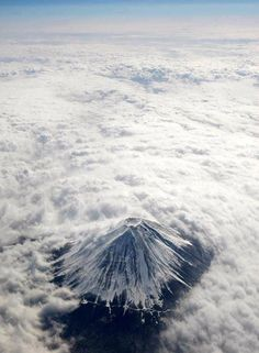 Incredible overhead photo of Mt. Fuji #beautiful #japan