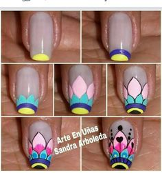 French Manicure Designs Disney 23 New Ideas Manicure Colors, Nail Manicure, Diy Nails, French Manicure Designs, Cool Nail Designs, Gold Gel Nails, Mandala Nails, Nails For Kids, Nail Patterns