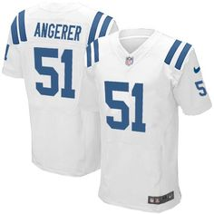 $79.99 Nike Elite Youth Indianapolis Colts #51 Pat Angerer White NFL Jersey