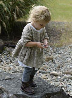 Rufflyn Cardigan Crochet pattern by The Velvet Acorn Bandeau Crochet, Pull Crochet, Crochet Girls, Crochet For Kids, Knit Crochet, Crochet Sweaters, Knitting For Kids, Baby Knitting, Velvet Acorn