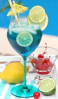 Tropical Blue Sangria