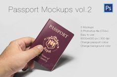 Photorealistic Passport Mockup Vol.2 by Illusiongraphic on @creativemarket