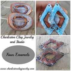 My recipe for Faux Enamels!   www.charlestonclayjewelry.com