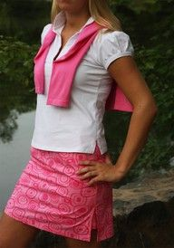 Golf fashion from Golftini for my daughters.  I don't golf.  Do love pink!