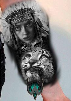 P Tattoo, Lion Tattoo, Tattoo Sleves, Indian Face, Realism Tattoo, Custom Tattoo, Tattoo Sketches, Black And Grey Tattoos, Tattoo Models