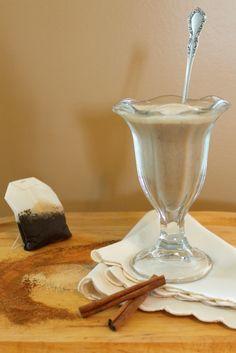 For a frothy, creamy, spicy treat, try this vegan chai milkshake. Blended Drinks, Coffeehouse, Plant Based Recipes, Milkshake, Chai, Spicy, Sweet Treats, Alternative, Vegan