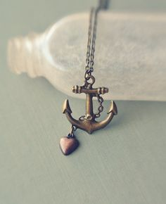 my love is the sea necklace. by bellehibou on Etsy, $20.00